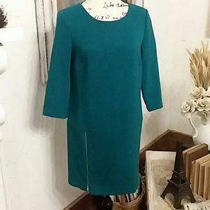 Ann Taylor Tunic Dress, Wool/Cotton Blend, Sz 2